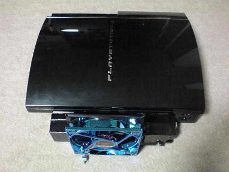 初期型PS3の1号機(60GB)の廃熱ファン装着⑥.JPG