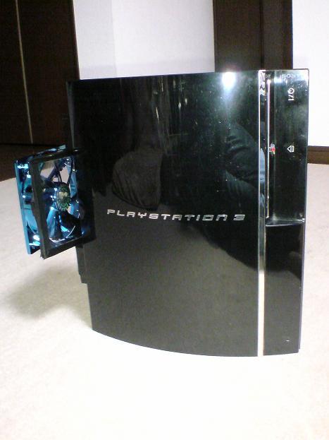 初期型PS3の1号機(60GB)の雄姿③.JPG