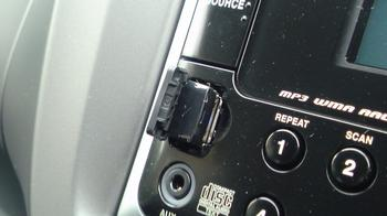 デュアルサイズCD/USBコンポにUSB メモリーアダプターを直差し!②.JPG