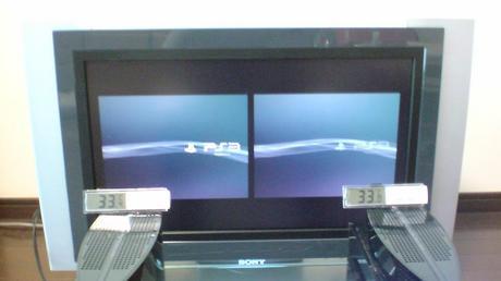 初期型PS3の冷却効果を比較!1.電源オン時の温度②.JPG