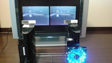 初期型PS3の冷却効果を比較!2.起動後の温度を比較①.JPG