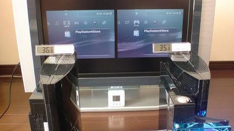 初期型PS3の冷却効果を比較!2.起動後の温度を比較⑤.JPG