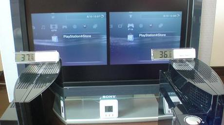 初期型PS3の冷却効果を比較!2.起動後の温度を比較⑥.JPG