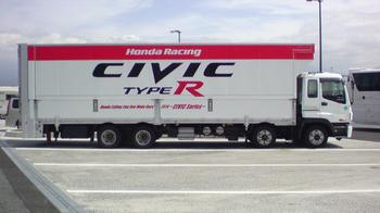 Honda Racing トランポ CIVIC TYPE-R ②.JPG