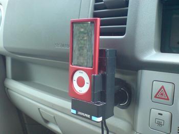 iPod nano 専用の車載ホルダー 車載①.JPG