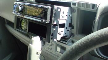iPod用車載ホルダーを再製作 オーディオ取り付けキットからの取り外し③.JPG